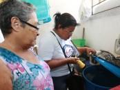 A secretaria municipal de saúde realizou na manhã desse sábado (04) a primeira ação de combate à dengue no bairro do Curado I